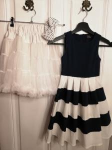 Kinderkleid gestreift navy