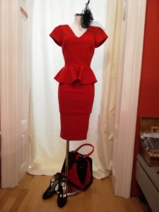 Pencildress in Red Gr.36+38