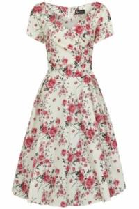 NEU im 2ndDance: Lady Vintage Modellkleider! Zartes Blumenkleid Gr.44+46+48