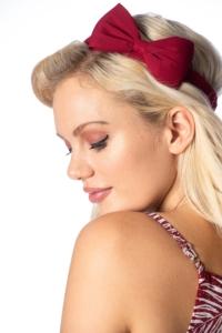 Haarband mit Schleife in Burgunder und weitere Farben