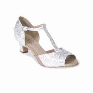 So Danca Tanzschuh in Sparkle Silver mit 4cm Absatz